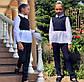 """Детский брючный костюм 728 """"Мадонна Воротничок Баска Контраст"""" в школьных расцветках, фото 4"""