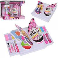 Набор детской косметики Бабочка 77004: помады, тени, румяна, кисточки