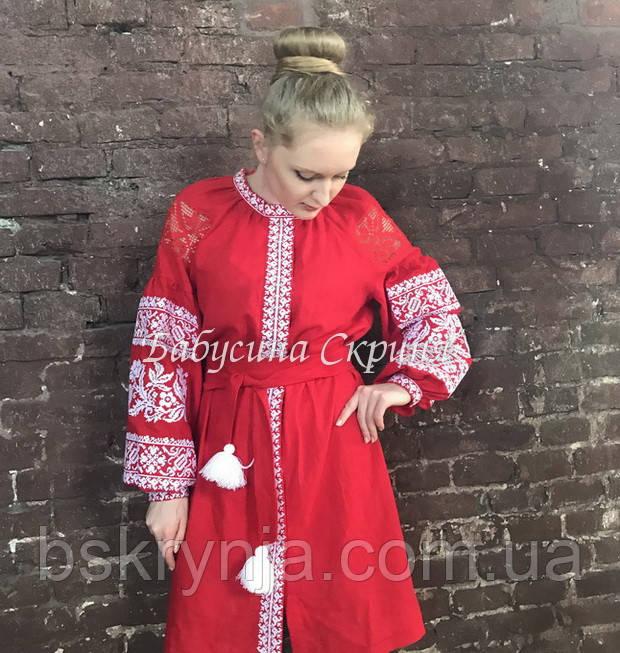 Плаття вишите МВ-153-2с