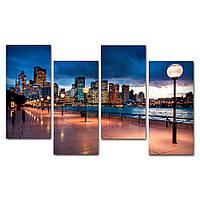 Модульная картина на стену IdeaХ Вечер в мегаполисе, 120х75 см