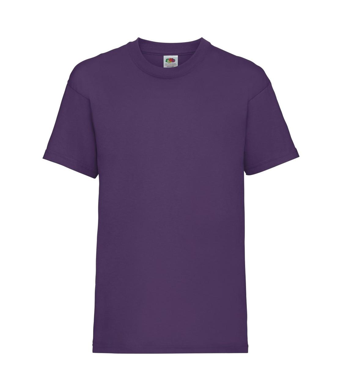 Футболка для мальчиков однотонная фиолетовая 033-PE