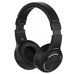 Беспроводные Bluetooth наушники Awei A600BL Black, черные