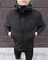 Куртка мужская Soft Shell black / ветровка осенне-весення