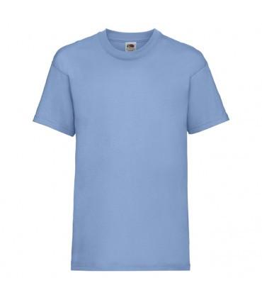 Футболка для мальчиков однотонная голубая 033-YT