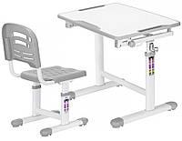 Комплект парта и стульчик Evo-kids Evo-07 Grey (столешница белая/пластик серый)