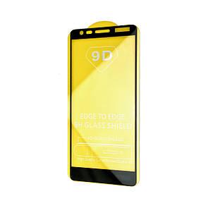 Защитное стекло DK-Case Full Glue 9D для Nokia 3.1 (black)