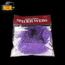 Паутина для Хэллоуина фиолетовая - размер упаковки 11*16см, распределяете на свое усмотрение