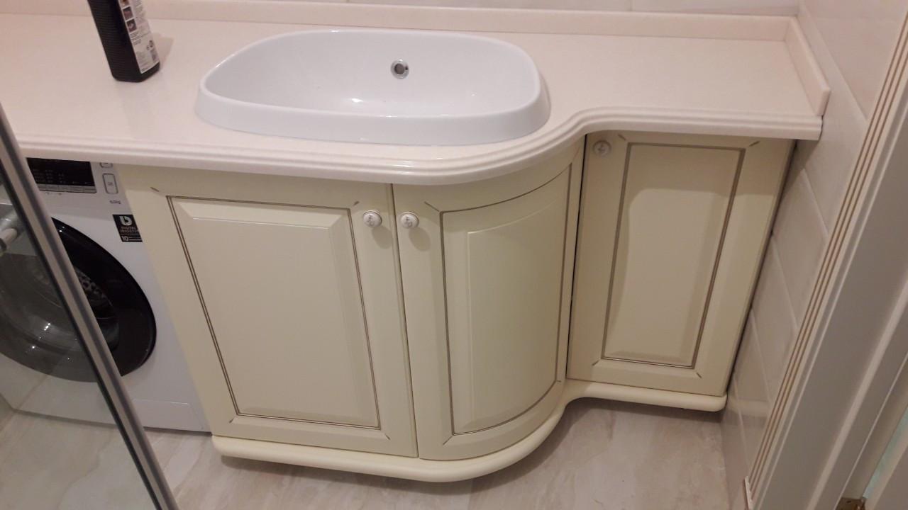 Тумба под умывальник на заказ Днепр. Мебель в ванную на заказ.
