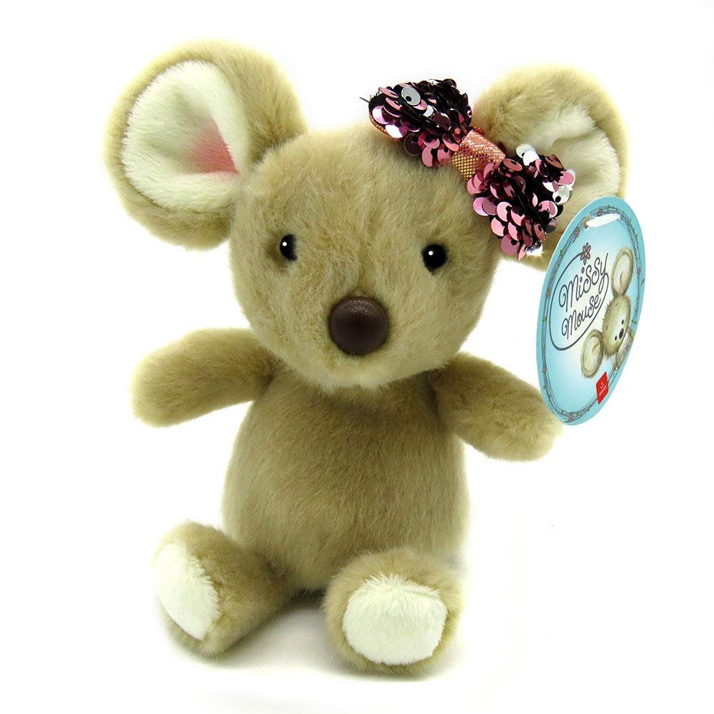 Мягкая игрушка Aurora  Мышонок девочка 17 см 190063B