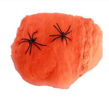 Паутина на Хэллоуин оранжевая - размер упаковки 16*11см (распределяете по-желанию)