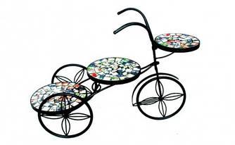 Подставка под цветы Радуга трехколесный велосипед