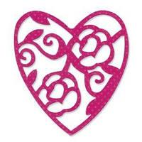 Нож для вырубки Sizzix - Heart, Lace, 657418, фото 1