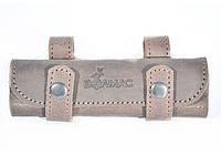 Подсумок на 20 патронов для мелкокалиберного ружья кожа Ретро коричневый, фото 1