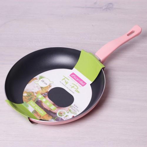 Сковорода Kamille KM- 4248A 28*4.5 см из алюминия без крышки классическая сковородка