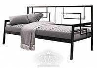Кровать-диван Квадро 900х2000 черный барх. (Металл Дизайн)