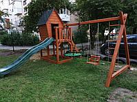 Детская игровая площадка с качелями и гнездом аиста. Детская площадка которая заменит супер няню. п38