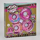 """Набор детской косметики """"Пончик"""" 10380 А: 3 яруса, тени, помада, блеск для губ, фото 2"""