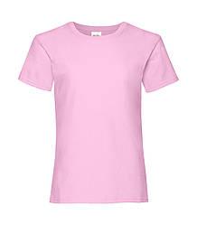 Футболка для девочек однотонная розовая 005-52