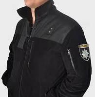 Флисовая толстовка черная Полиция