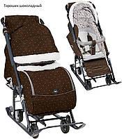 Санки коляска Ника НД7-1Б с трансформируемым кузовом