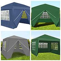Новий Павильон садовый 3х3 м, шатер, палатка торговая, альтанка. Польша  Біла, синя, зелена