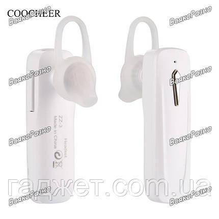Блютуз ZZ - 3. Мини-гарнитура Беспроводной Bluetooth стерео наушники-вкладыши. Bluetooth универсальный, фото 2