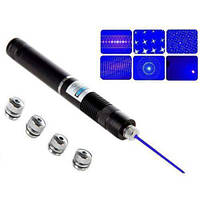 Мощная Лазерная указка LASER BLUE YXB 008 синий фиолетовый лазер