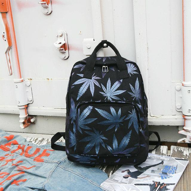 Сумка-рюкзак с коноплей