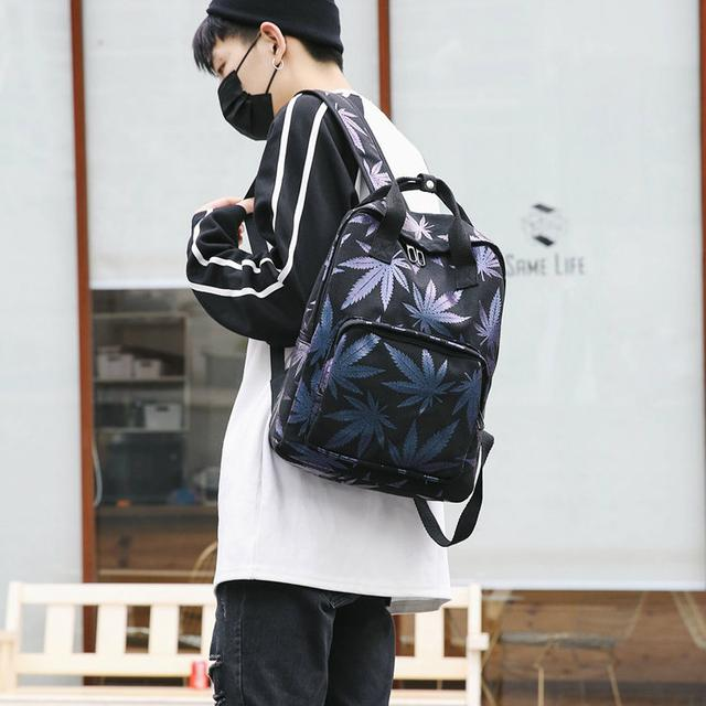 Сумка-рюкзак с принтом Листьев конопли