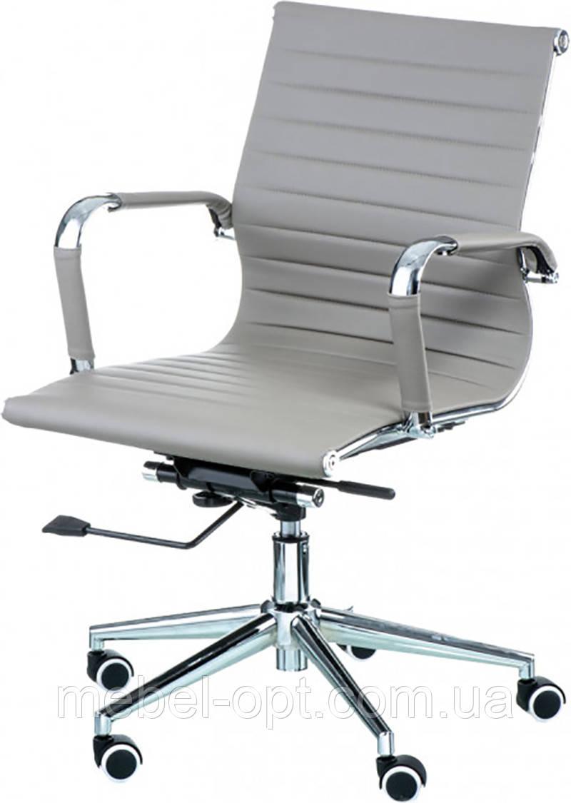 Офисное кресло Solano 5 artleather grey Tilt, реплика дизайнерского кресла Eames Style Бесплатная доставка