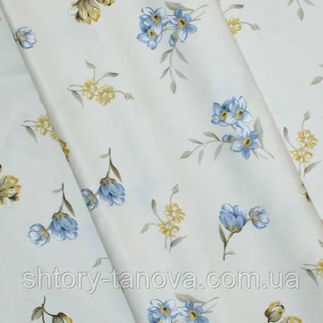 Декор сатен quito/квайто цветок мелкий синий компаньон