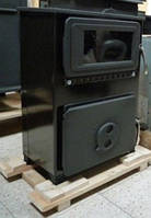 FILEX-H - ( черная ) отопительно варочная печь камин на дровах , современная буржуйка ( каминофен )