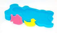 Коврик поролоновый в ванночку цвет голубой (7) код 20817