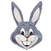 Фольгированный шар  Кролик 42см х 24см Серый