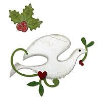 Нож для вырубки и тиснения Sizzix - Dove & Holly, 658183
