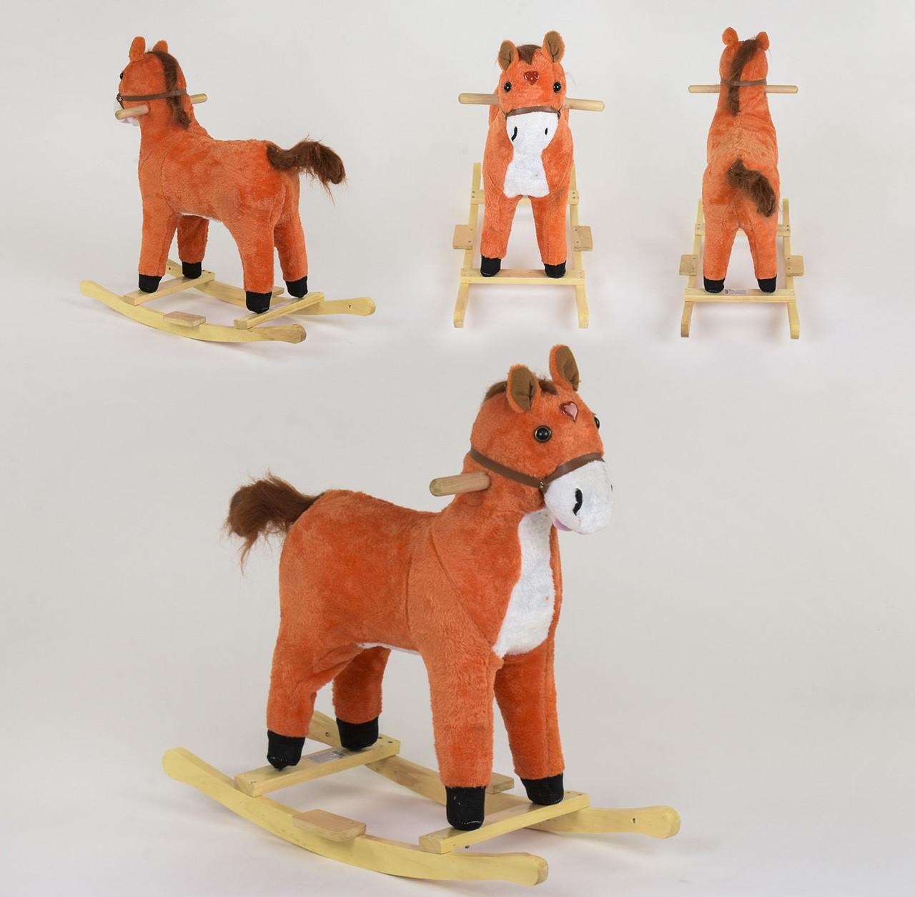 Качалка-лошадка В 09112 коричневый 80433