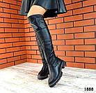 Демисезонные ботфорты черного цвета, натуральная кожа 36 39 ПОСЛЕДНИЕ РАЗМЕРЫ, фото 3