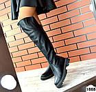 Демисезонные ботфорты черного цвета, натуральная кожа 36 39 ПОСЛЕДНИЕ РАЗМЕРЫ, фото 2