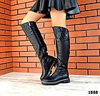 Демисезонные ботфорты черного цвета, натуральная кожа 36 39 ПОСЛЕДНИЕ РАЗМЕРЫ, фото 5