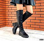 Демисезонные ботфорты черного цвета, натуральная кожа 36 39 ПОСЛЕДНИЕ РАЗМЕРЫ, фото 4