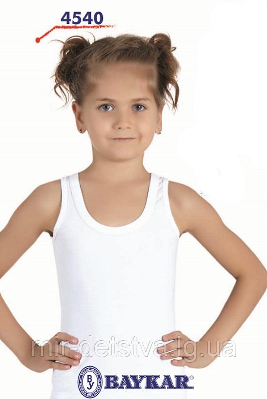 Майка белая для девочек ТМ Baykar, Турция оптом р.6 (158-164 см)