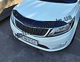 Мухобойка. Дефлектор капота. Kia Rio 2011> (ANV), фото 2