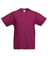 Детская футболка Бордовый 152 см