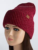 Удлиненная шапка с отворотом Бемби рубин