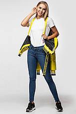 Лаковая женская короткая зимняя куртка KTL-310 (новая коллекция Зима 2019 - 2020) желтая, фото 2