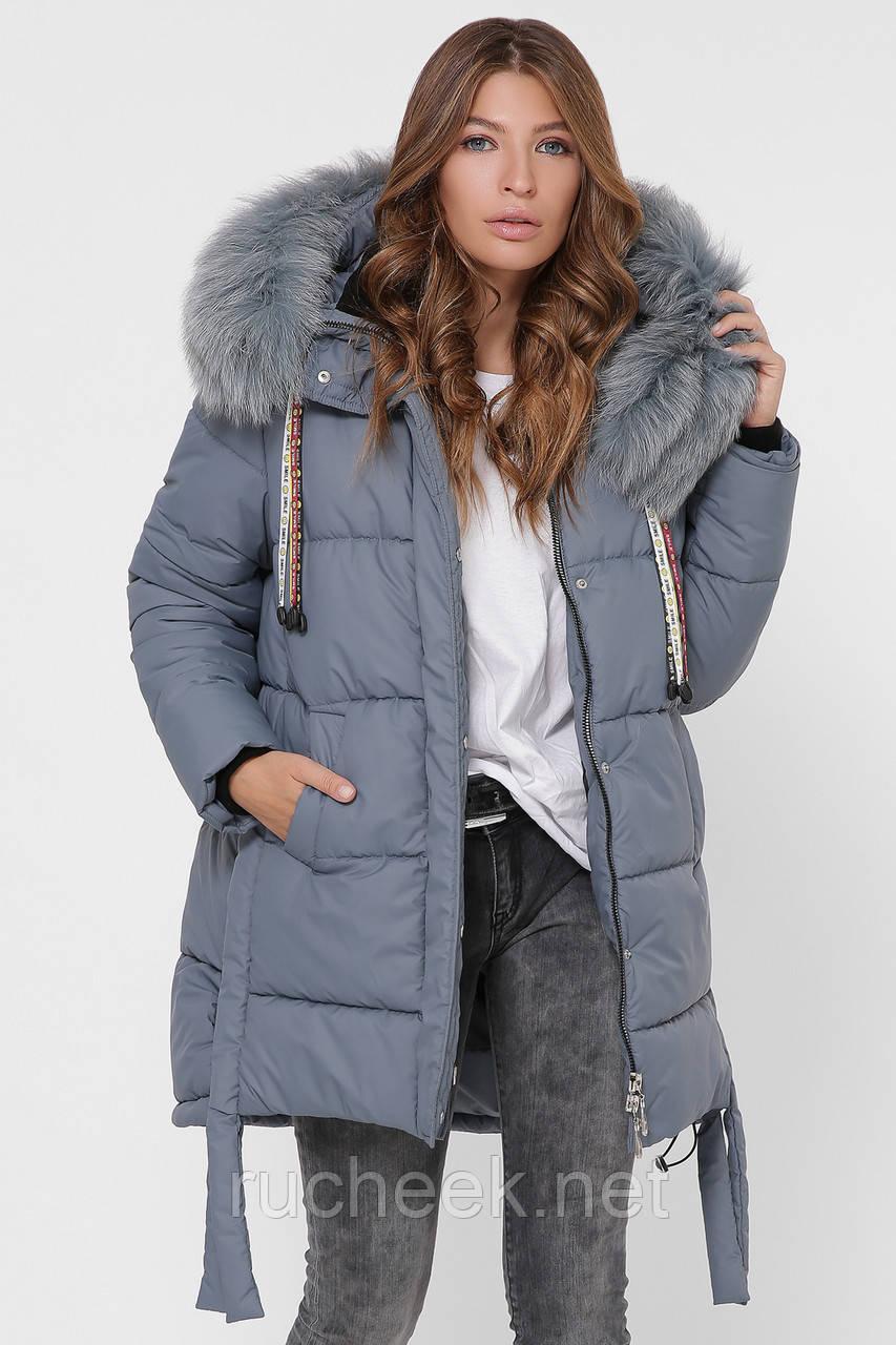 Зимняя куртка женская размер 44 идет на 46-48, X-Woyz LS-8845-12