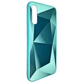 Чехол Silicone Form Vinyl Diamond Samsung A70 (mint)