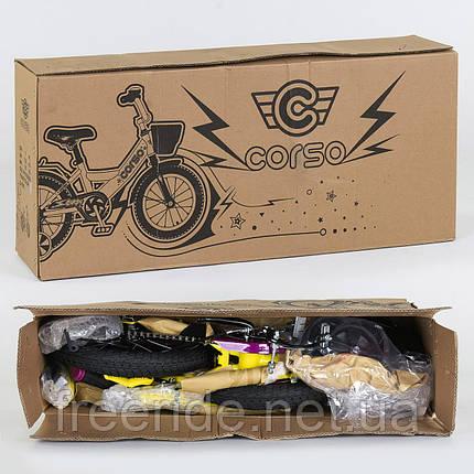 """Детский Велосипед CORSO 12"""" G-12172 (ЧЕРНЫЙ МАТОВЫЙ), фото 2"""