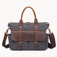 Мужской винтажный портфель S.c.cotton, фото 1