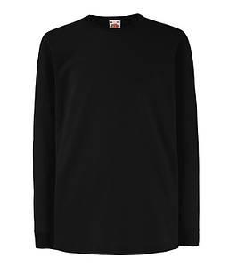 Детская футболка с длинным рукавом Черный 104 см